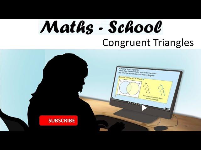 CONGRUENT triangles using SSS, ASA, SAS, RHS GCSE Revision Lesson (Maths - School)