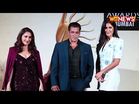 Salman Khan, Katrina Kaif & Madhuri Dixit At The PC Of 20th Homecoming Edition Of IIFA Awards