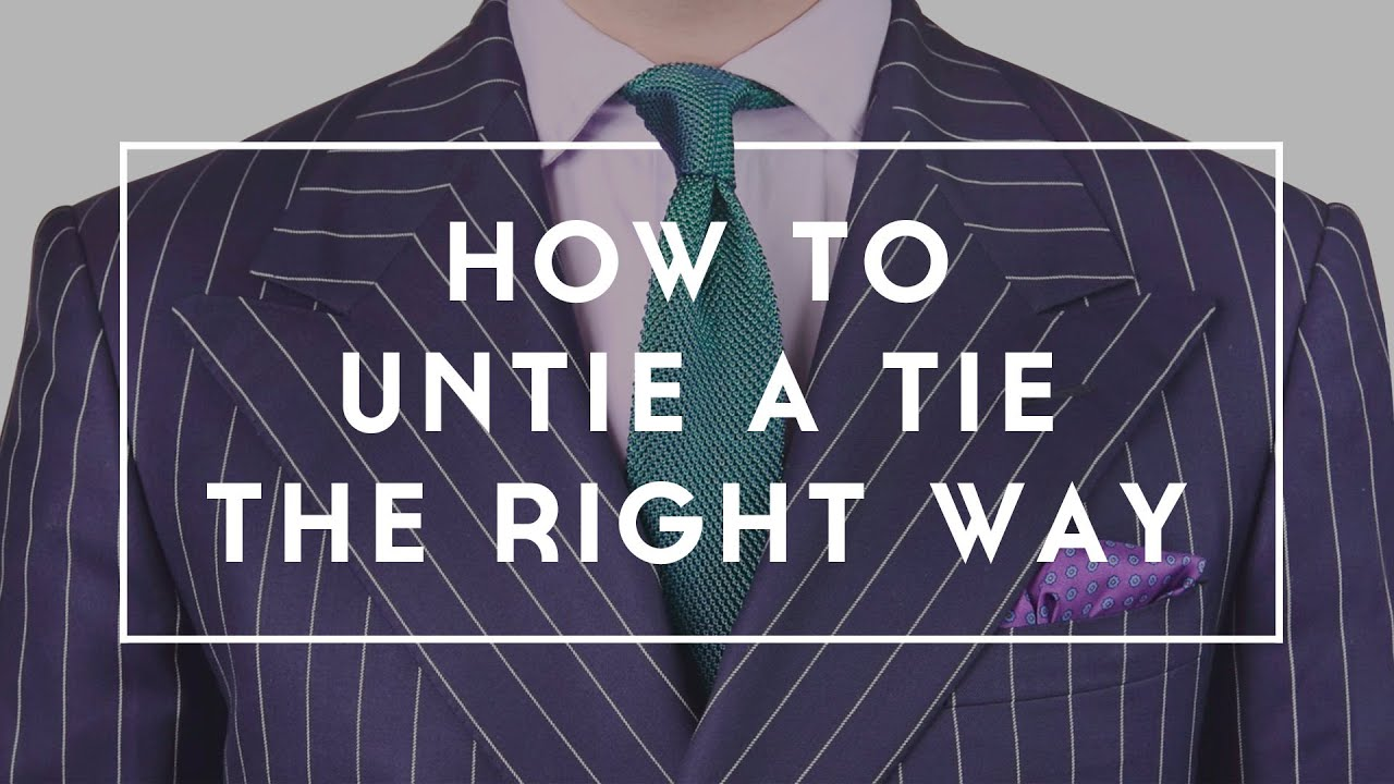 How to untie take off your tie how to get rid of wrinkles youtube ccuart Choice Image