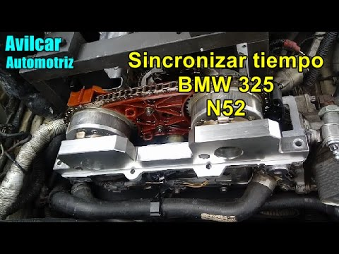 como poner a tiempo motor de bmw 325 n52 avilcar youtube. Black Bedroom Furniture Sets. Home Design Ideas