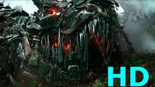 Optimus Prime vs. Grimlock & Dinobots vs. Decepticons - Transformers: Age Of Extinction Blu-ray HD