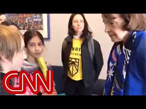 Watch Feinsteins tense exchange with children over climate