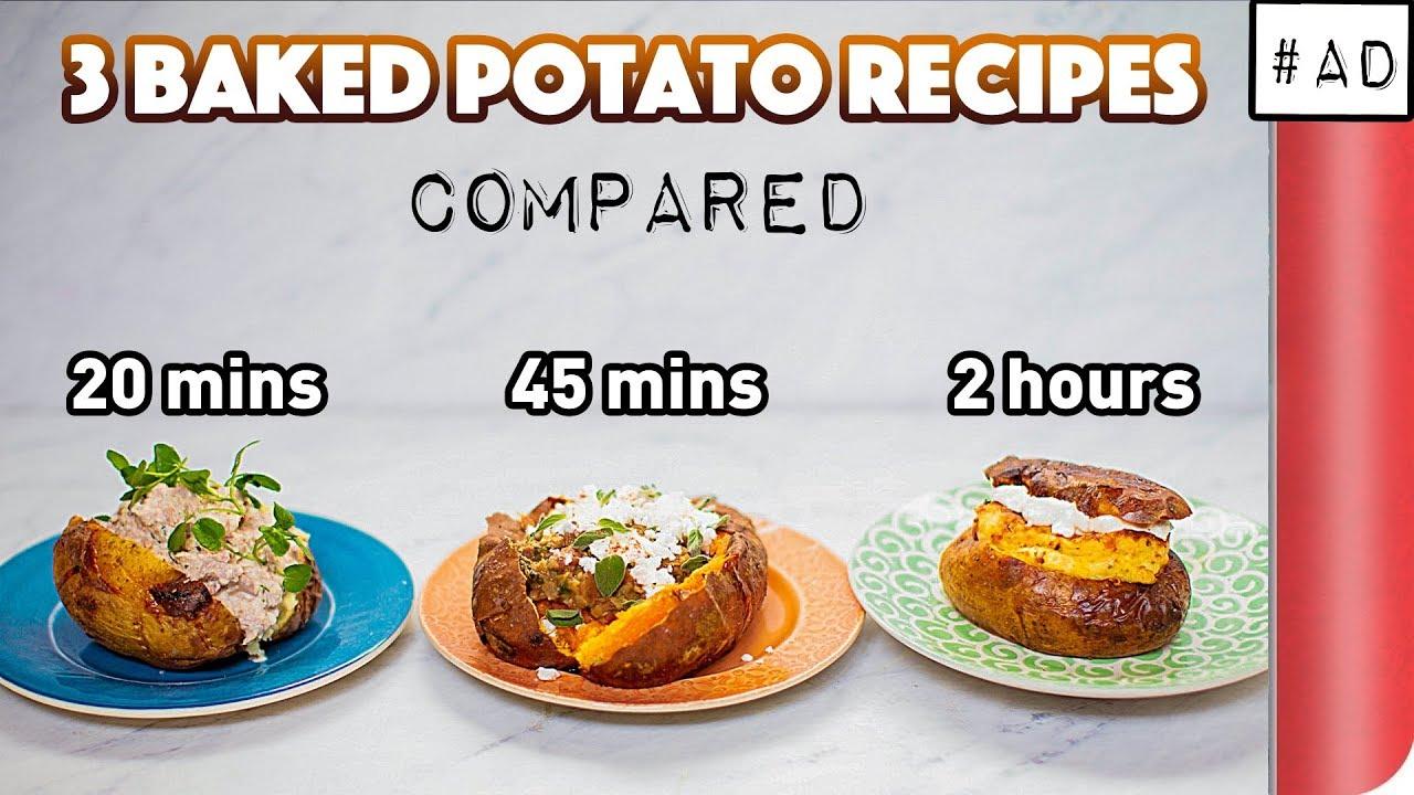 3 Baked Potato Recipes Compared (20 mins vs 45 mins vs 2 hours!?)