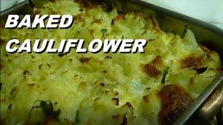 Italian Food Baked CAULIFLOWER Recipes Сauliflower Сheese Recipe #baked #food