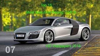 Gambar cover Top 15 Most Beautifull Racing CARS HD Wallpapers 2018