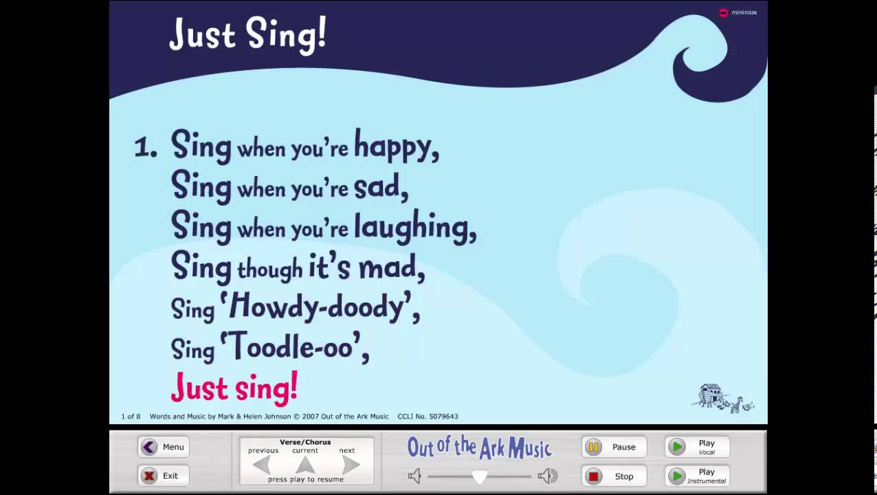 Just Sing! - Words on Screen™ Original - YouTube