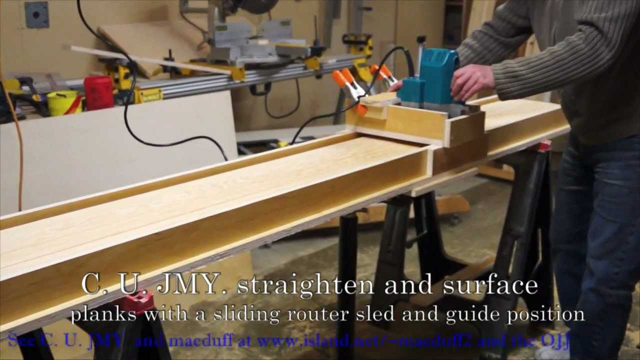 How To Router Sled Surfacer And Planerwmv YouTube