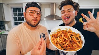 MY CELEBRITY CHEF TEACHES ME HOW TO COOK!!