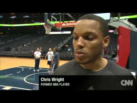 Basketball:Chris Wright NBA Payer with MS takes the court
