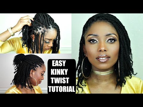 How to Kinky Twists Crochet Braids Tutorial