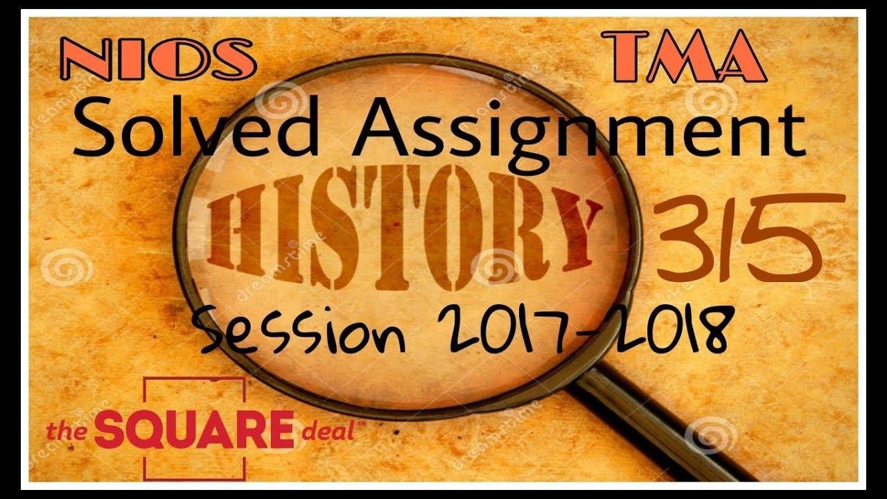 Nios Senior Secondary History Book