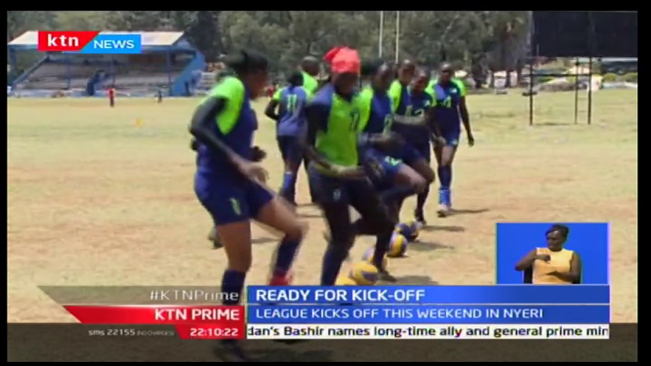 KCB women volleyball team is fit and ready for a match against MKU at Kamukunji grounds in Nyeri