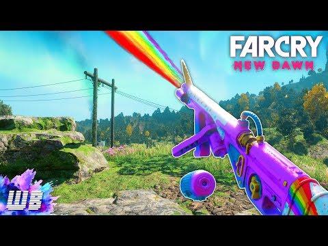 Far Cry New Dawn - THE UNICORN FLAMETHROWER OF DOOM Far Cry New Dawn Free Roam #27