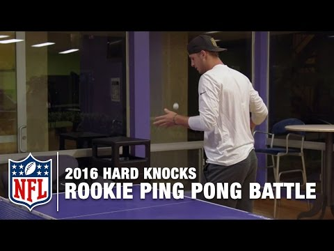 Jared Goff vs. Pharoh Cooper in Ping Pong! | 2016 Hard Knocks: Los Angeles Rams