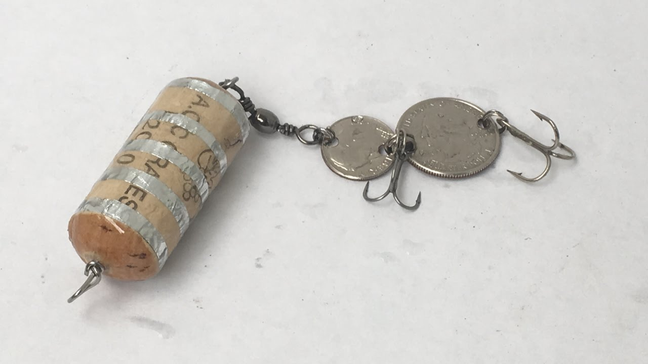 Making Lure From Cork & Coins-Penny(2)DIY