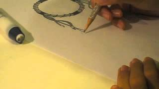 Me Drawing a Dreamcatcher :)