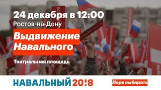 Ростов-на-Дону: Выдвижение Алексея Навального на пост  президента РФ 24 декабря 2017