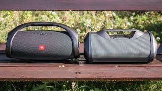 JBL Boombox vs Superstar Monster Blaster - outdoor comparison