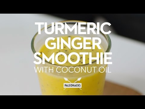 turmeric-ginger-smoothie-with-coconut-oil-|-paleo-recipe