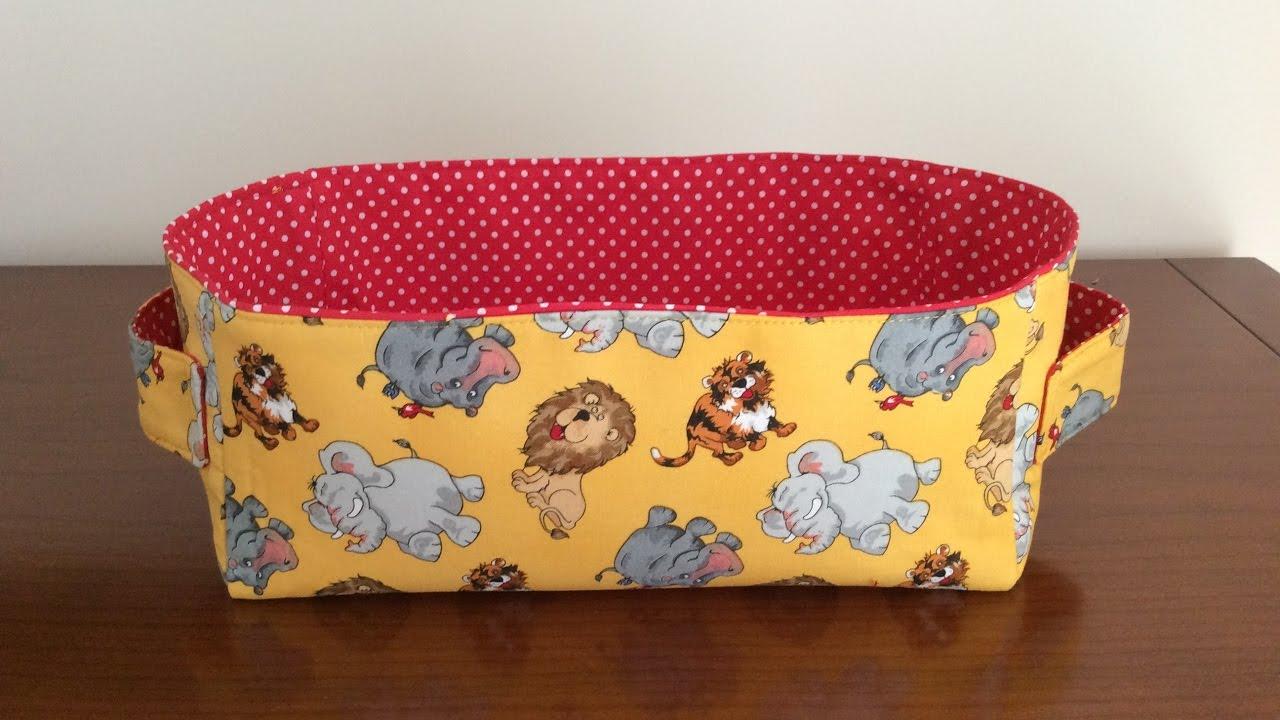 madalena couture coudre un petit panier rectangulaire pour enfant youtube. Black Bedroom Furniture Sets. Home Design Ideas