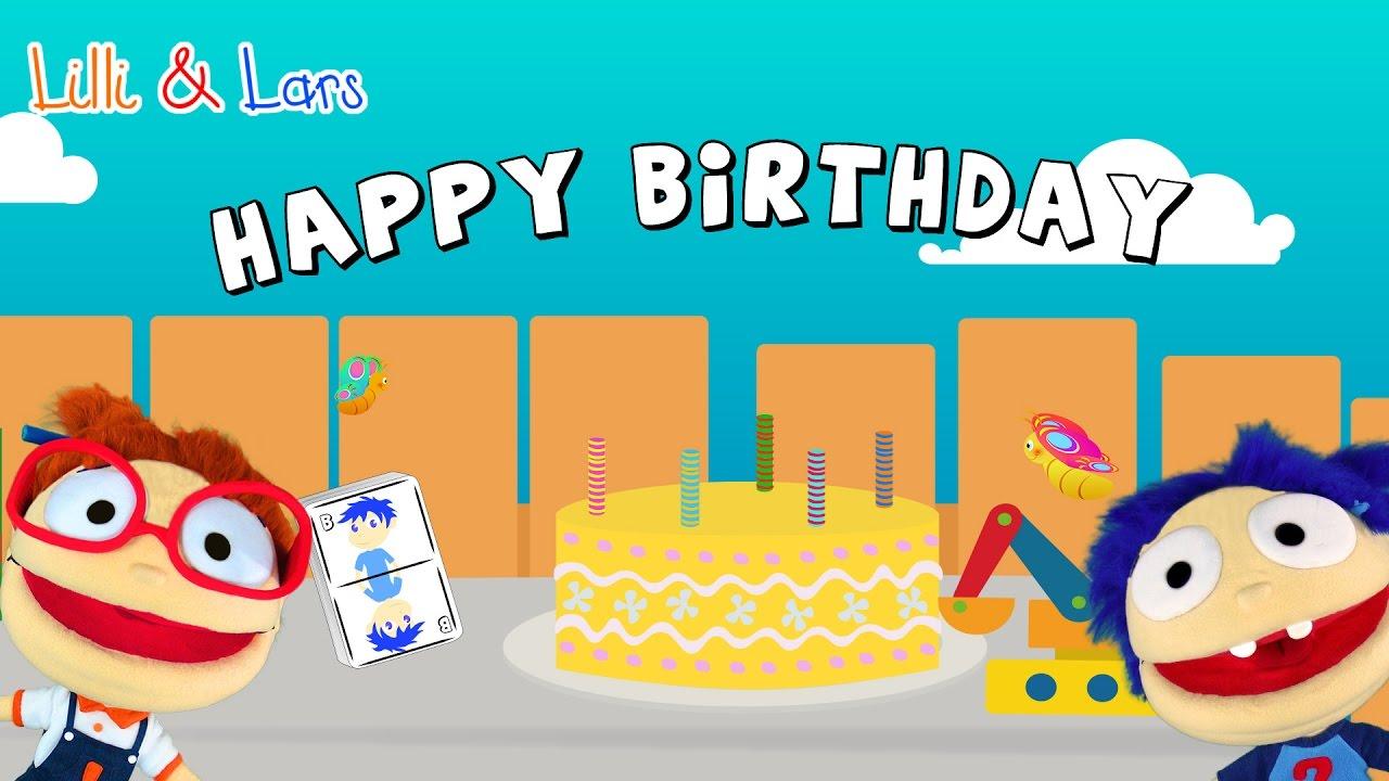 Happy Birthday Song For Children In English Lyrics Happy Children Song With Lyric Youtube