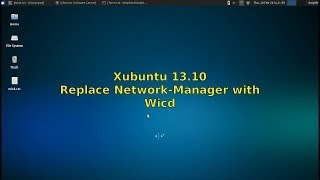 Xubuntu 13.10 - Replace Network-Manager with WiCD
