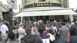 Rita Ora and Cara Delevingne at Avenue restaurant in Paris