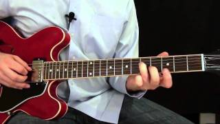 Blues Rhythm Guitar Lesson - Key of E