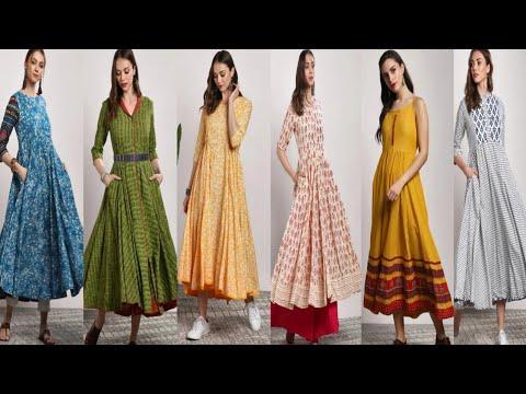 New Latest Designer  Printed Anarkali kurta // Summer Stylish Designer kurta 2019