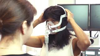 How to use a CPAP machine: fitting a face mask