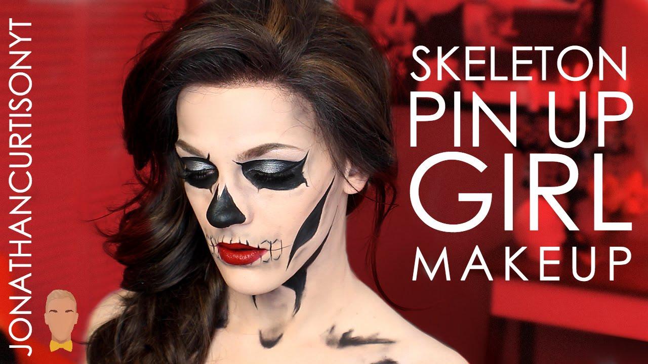 skeleton pin-up girl - halloween 2015 :: jonathancurtisonyt - youtube