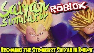 BECOMING THE STRONGEST SAIYAN IN ROBLOX! | Roblox: Saiyan Simulator