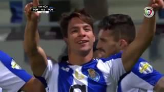 Goal   Golo Óliver: Tondela 0-(2) FC Porto (Liga 18/19 #23)