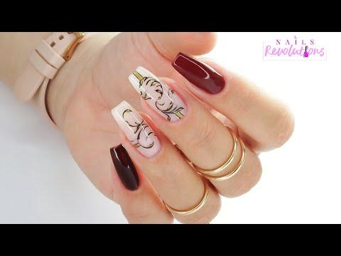 Easy elegant ornament nails art tutorial / Eveline Cosmetics thumbnail