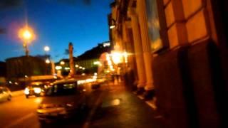 アキーラさん夜の散策①イタリア・ナポリ市街地!港近くcity,Napoli,Italy