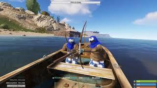 Tekne Muhabbeti ve M249 Almak :) / Rust Survival Türkçe Twitch.tv/hko34