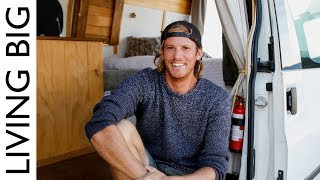 Electrician Builds Off-Grid Van To Surf The World