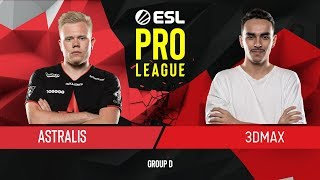 CS:GO - 3DMAX vs. Astralis [Mirage] Map 1 - Group D - ESL Pro League Season 9 Europe
