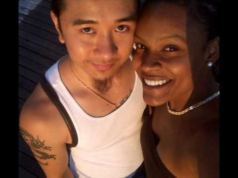 Asian man black woman couple