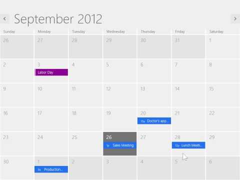 Windows 8.0 Professional - Use The Calendar App