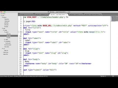 Learn PHP: Basic CMS - Editing Pages (Part 7/8)