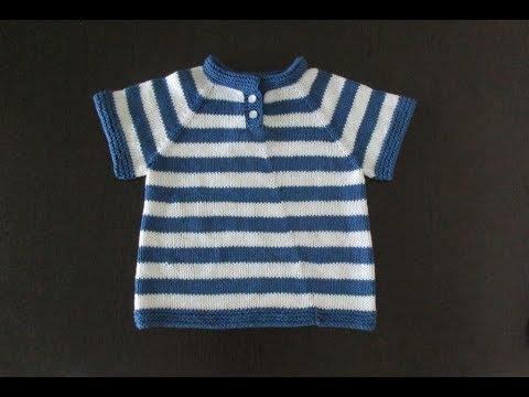 Детская футболка спицами. Часть 1