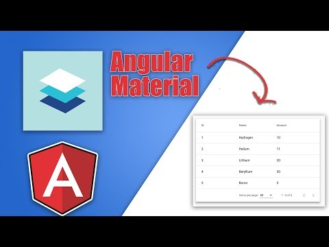 Angular Material Data Table Tutorial - YouTube