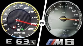 Mercedes E63 AMG 2017 vs BMW M6 2017 ACCELERATION TOP SPEED 0-300km/h AUTOBAHN POV by AutoTopNL