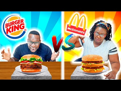 BURGER KING VS MCDONALDS FOOD CHALLENGE