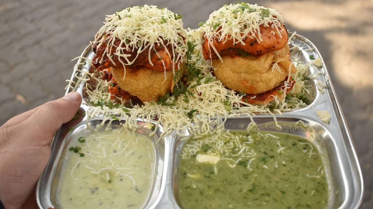 MASALA CHEESE Vada Pav | Most Spicy Indian Burger | Indian Street Food