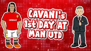 🔴Cavani's 1st Day at Man Utd!🔴 (Transfer Announcement Parody First Day)