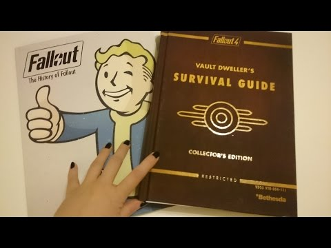 ASMR - Fallout 4 Game, Artbook & Guide Book. Tapping, Whispering, Page Touching & Turning