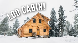 *snow Storm* Log Cabin Airbnb Full Tour!   In The Mountains!