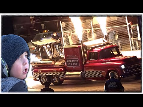 2017 Night of Fire Jet Car Drag Races! Jet Engine Cars, Drag Race Muscle Cars, Jelly Belly Race Car